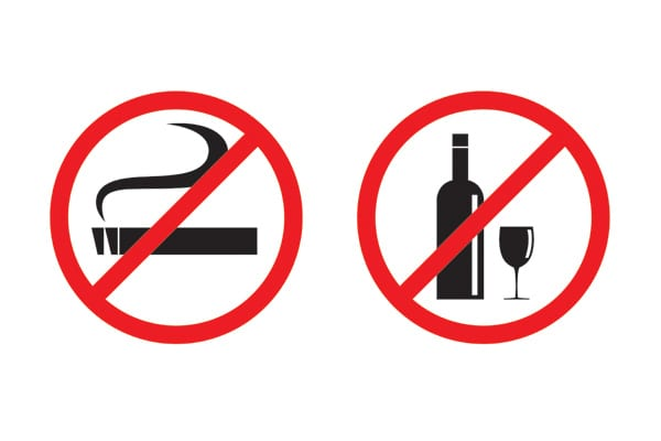 No smoking and drinking vector-img-blog